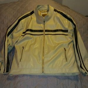 Men's Point Zero Faux Leather Jacket XL